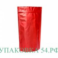 Пакет дой-пак металлизированный красный матовый 14*20,5 см