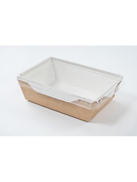 Коробка крафт с прозрачной крышкой-1 (12*8,5*5 см)