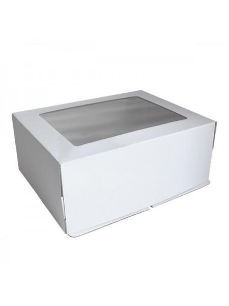 Коробка крафт с окошком -15 (25*16*10 см)