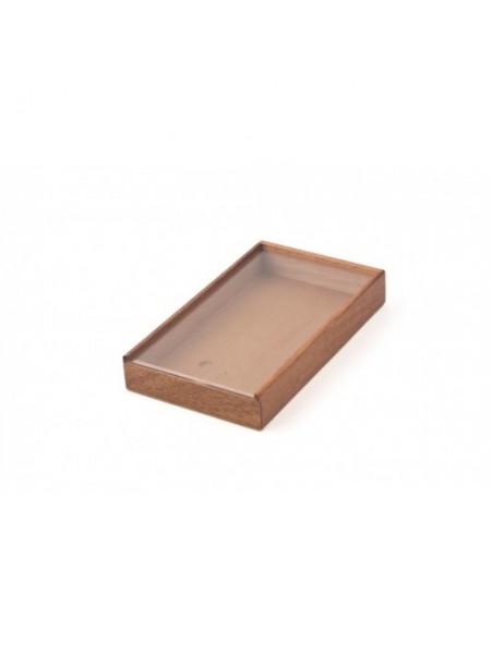 Коробка крафт с окошком-14  (14*10,5*2,5 см)