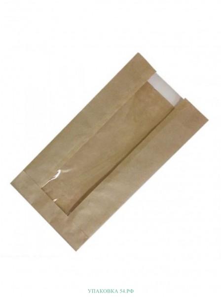 Пакет бумажный крафт - 11 14*25 см